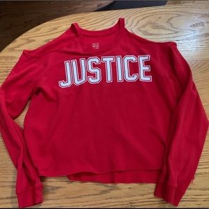 Other - Justice 18/20 Sweatshirt Cut Out Girls